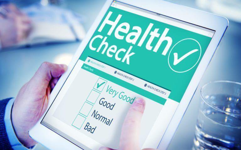 graphic of a health check checklist