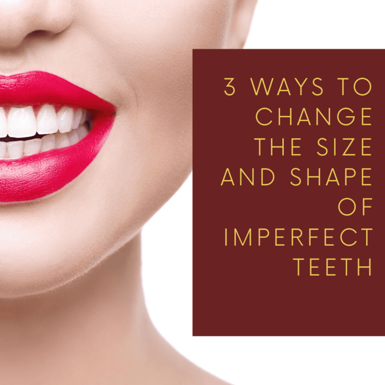 "Infograph for ""3 ways to change the size and shape of imperfect teeth"""