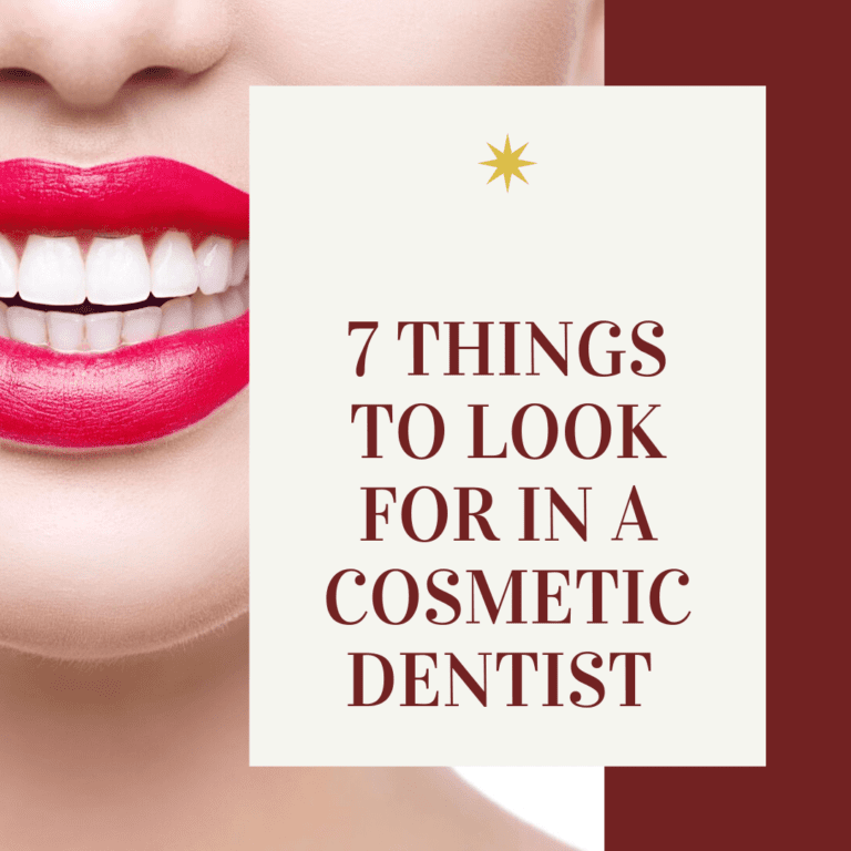 "Infograph for ""seven things to look for in a cosmetic dentist"""