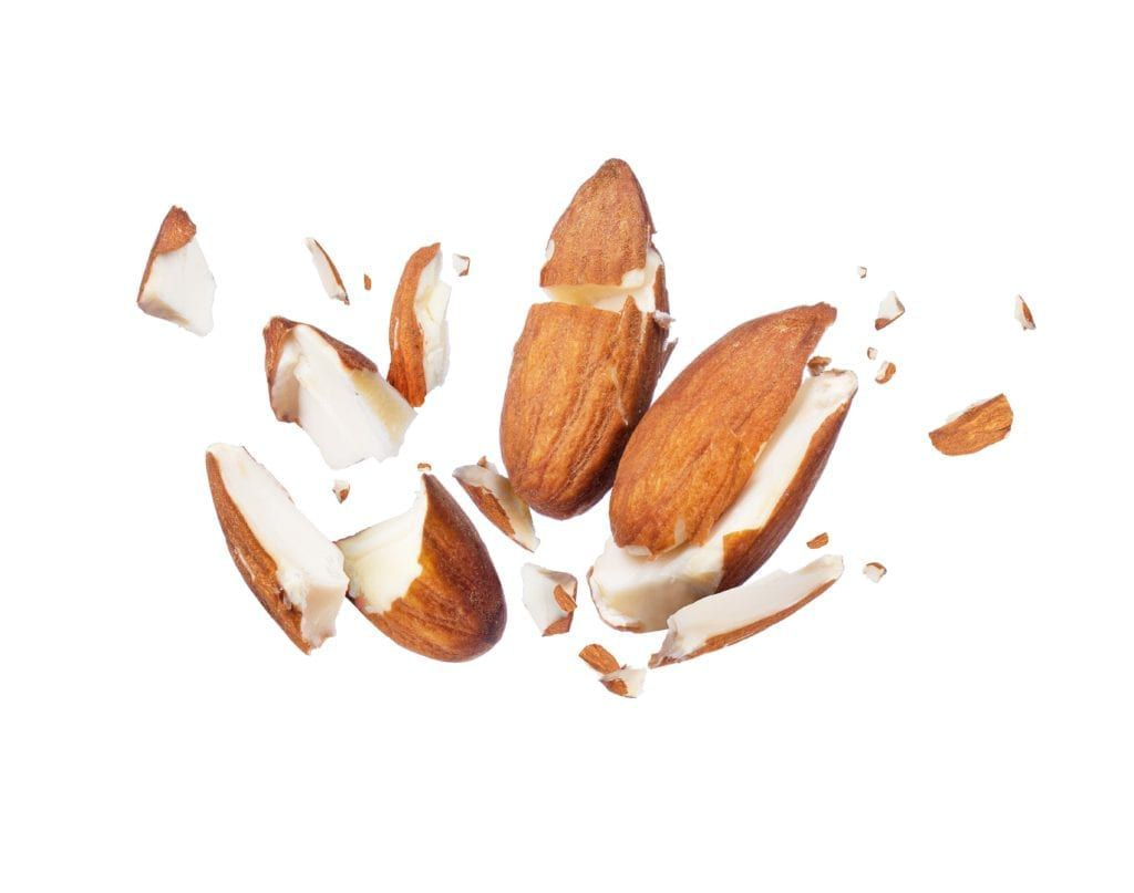 cracked almonds
